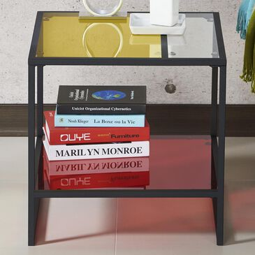 Furniture of America Audrina Glass End Table in Multi-tone, , large