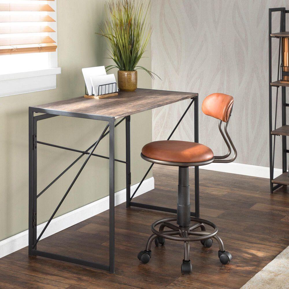 Lumisource Dakota Task Chair in Brown/Antique, , large