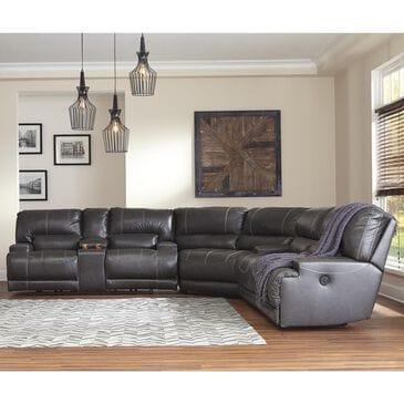 Millennium McCaskill 3-Piece Power Reclining Sectional in Gray, , large