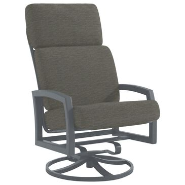 Tropitone Muirlands Cushion Swivel Rocker with Carbon Cushion in Graphite, , large