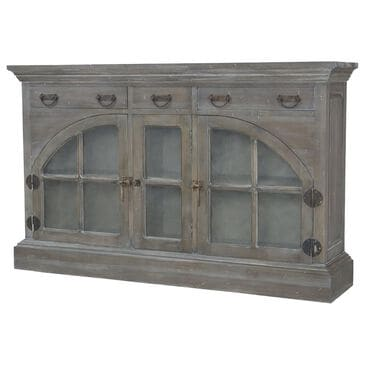 The Elk Group Farmhouse 3-Drawer China Credenza in Manor Greige and Whitewash, , large