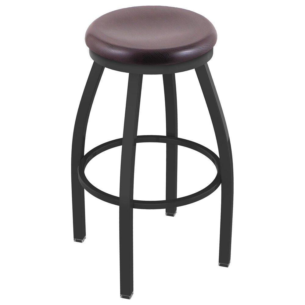 "Holland Bar Stool 802 Misha 30"" Swivel Bar Stool with Pewter and Dark Cherry Oak Seat, , large"
