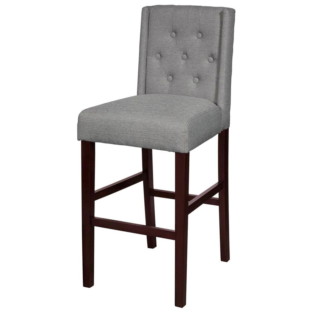 Accentric Approach Accentric Accents Wing Back Barstool in Grey, , large