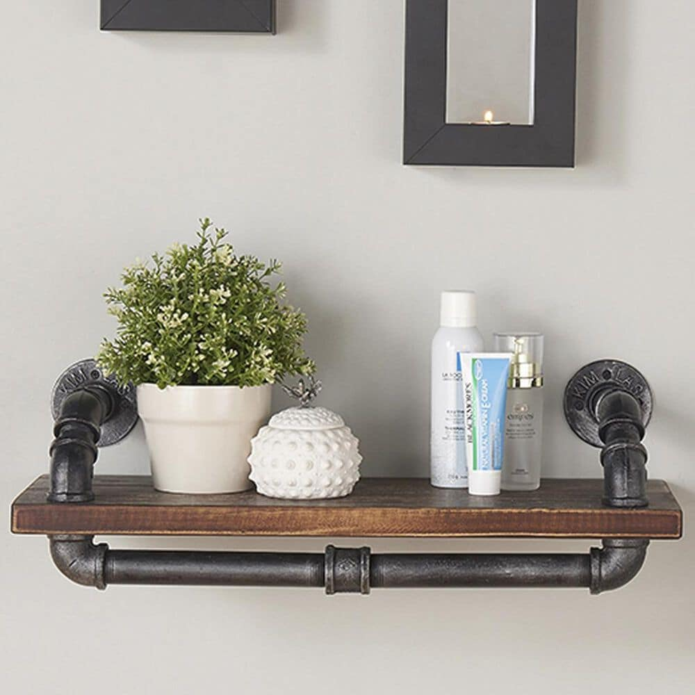 """37B Isadore 24"""" Floating Wall Shelf in Grey and Walnut, , large"""