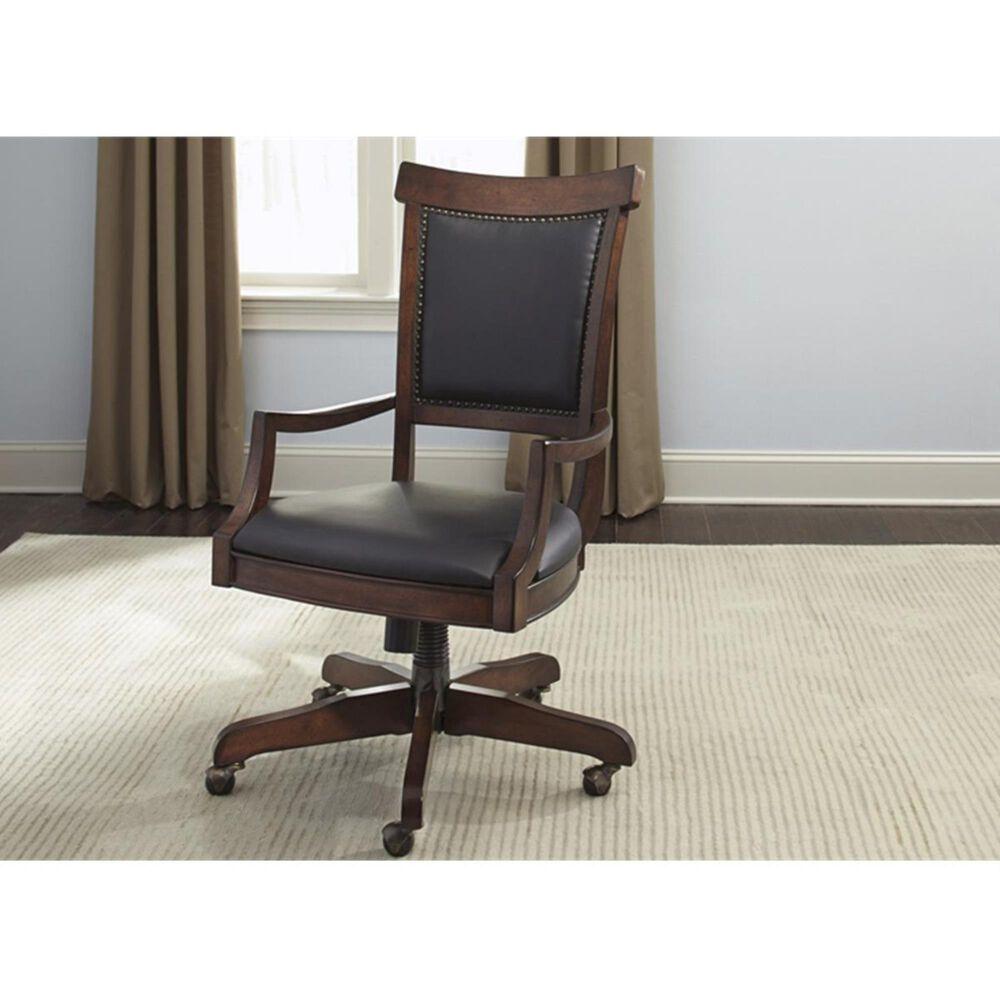 Belle Furnishings Brayton Manor Jr Executive Desk Chair in Cognac, , large