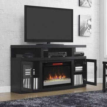 Fabio Flames Cantilever Media Fireplace in Engineered Embossing Oak, , large