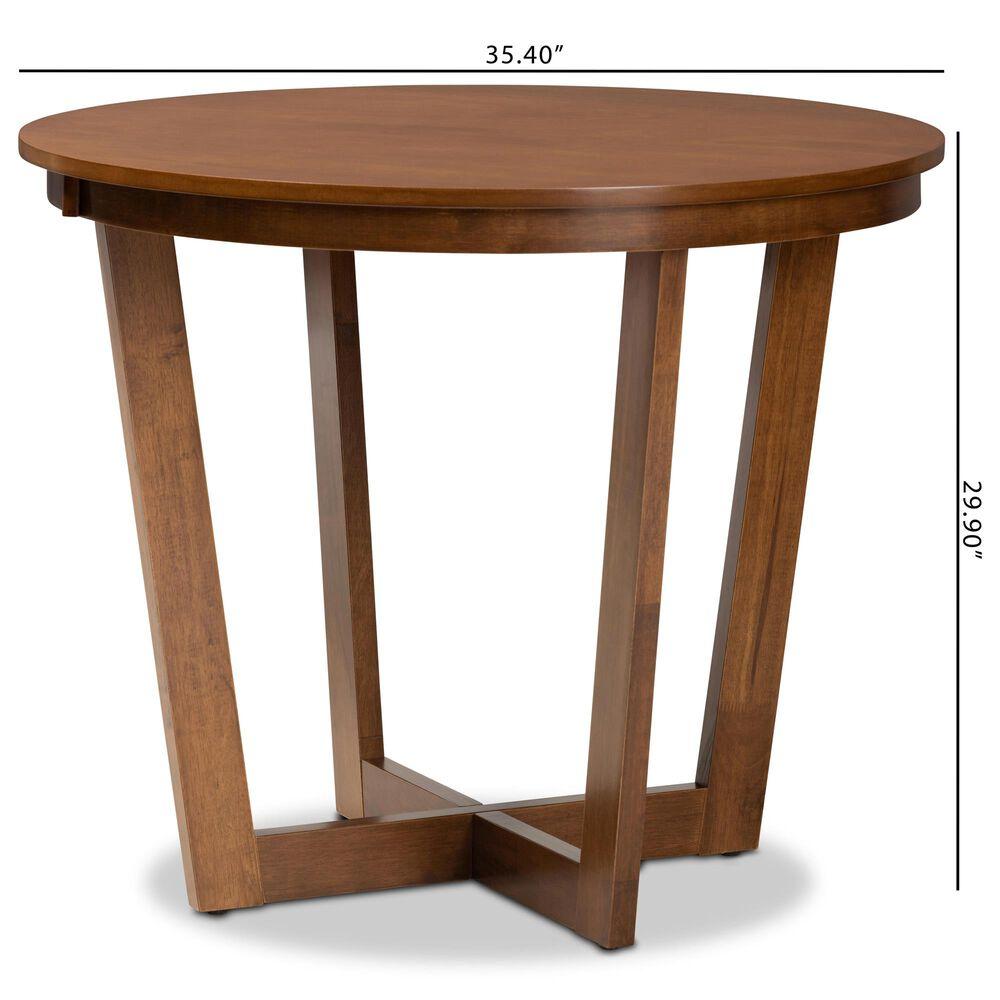 "Baxton Studio Alayna 35"" Dining Table in Walnut, , large"