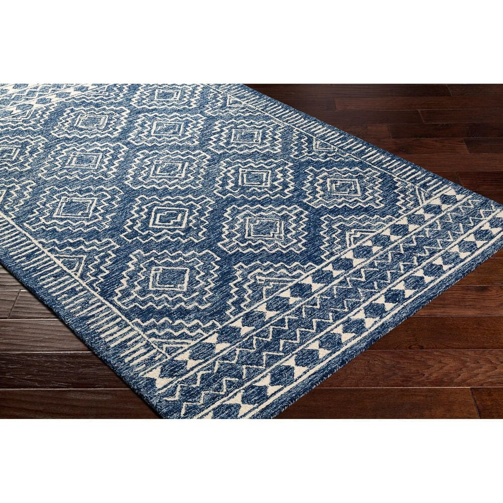 "Surya Granada GND-2322 5' x 7'6"" Dark Blue, Denim and Ivory Area Rug, , large"