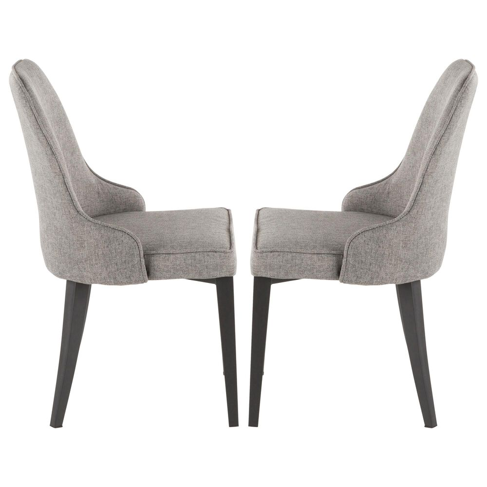 Lumisource Nueva Dining Chair in Grey/Black (Set of 2), , large