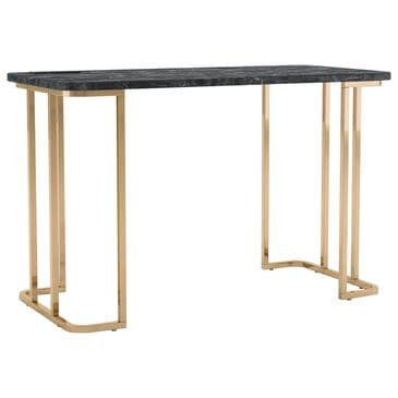 Furniture of America Knowles Writing Desk in Black/Gold, , large