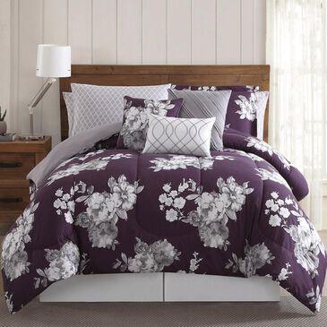 Pem America Peony Garden 12-Piece Queen Garden Floral Bed Ensemble in Purple, , large