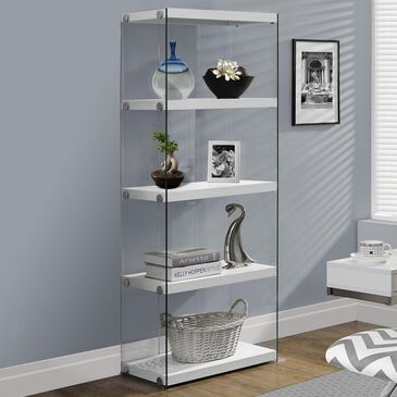 "Monarch Specialties 60"" Bookcase in White, , large"