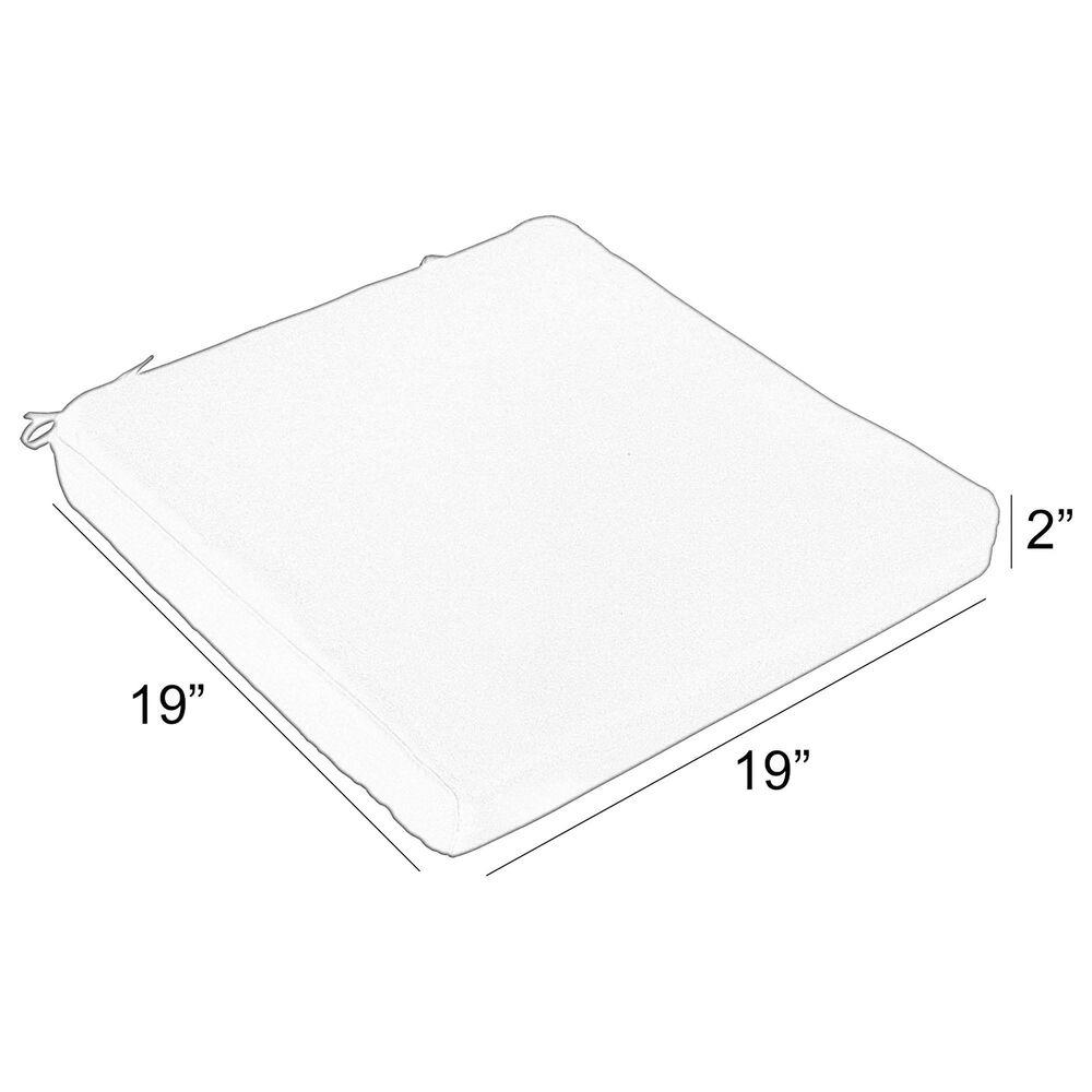 "Sorra Home Sunbrella 19"" Chair Pad in Canvas Granite (Set of 2), , large"