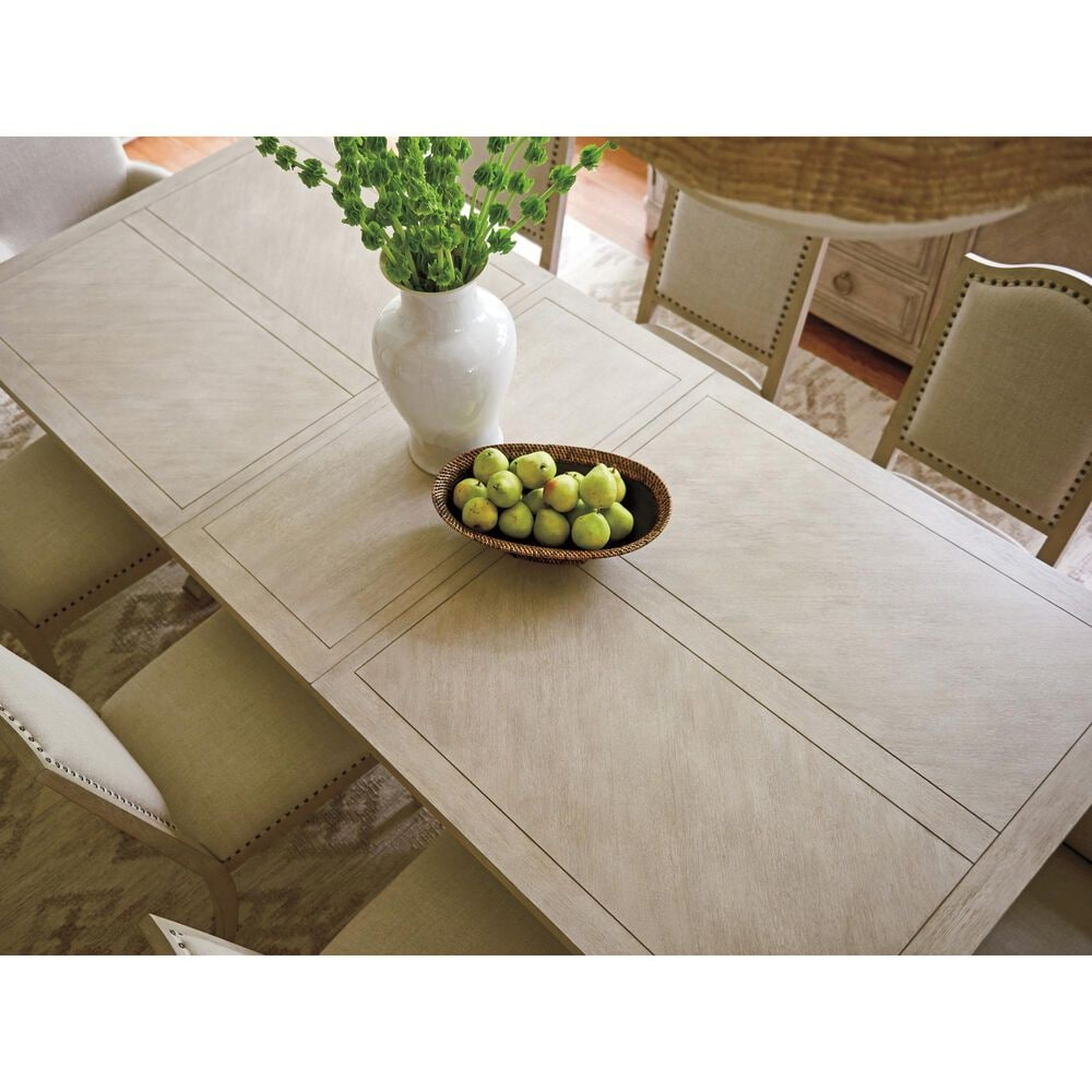 Lexington Furniture Malibu Rockpoint Rectangular Dining Table in Warm Taupe - Table Only, , large
