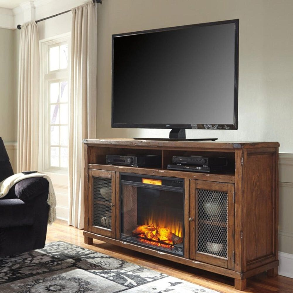Signature Design by Ashley Electric Infrared Fireplace Insert in Black, , large