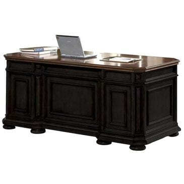 Shannon Hills Allegro Executive Desk in Burnished Cherry/Rubbed Black, , large