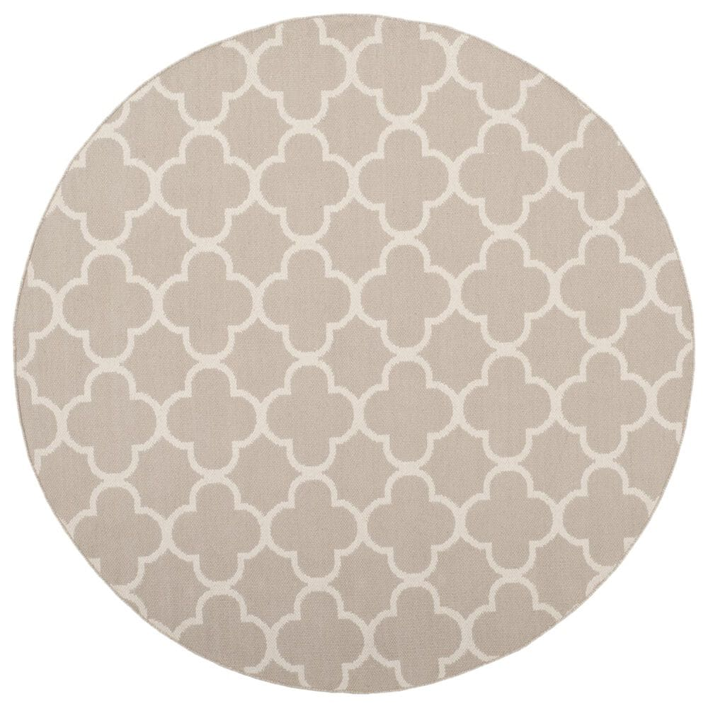 Safavieh Montauk  6' Round Gray and Ivory Area Rug, , large
