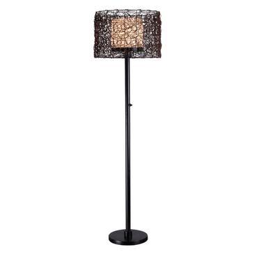 Kenroy Tanglewood 1 Light Outdoor Floor Lamp in Bronze, , large