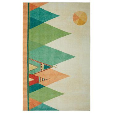 """Karastan Prismatic 3'4"""" x 5' Blue, Beige, Green and Red Kids Area Rug, , large"""