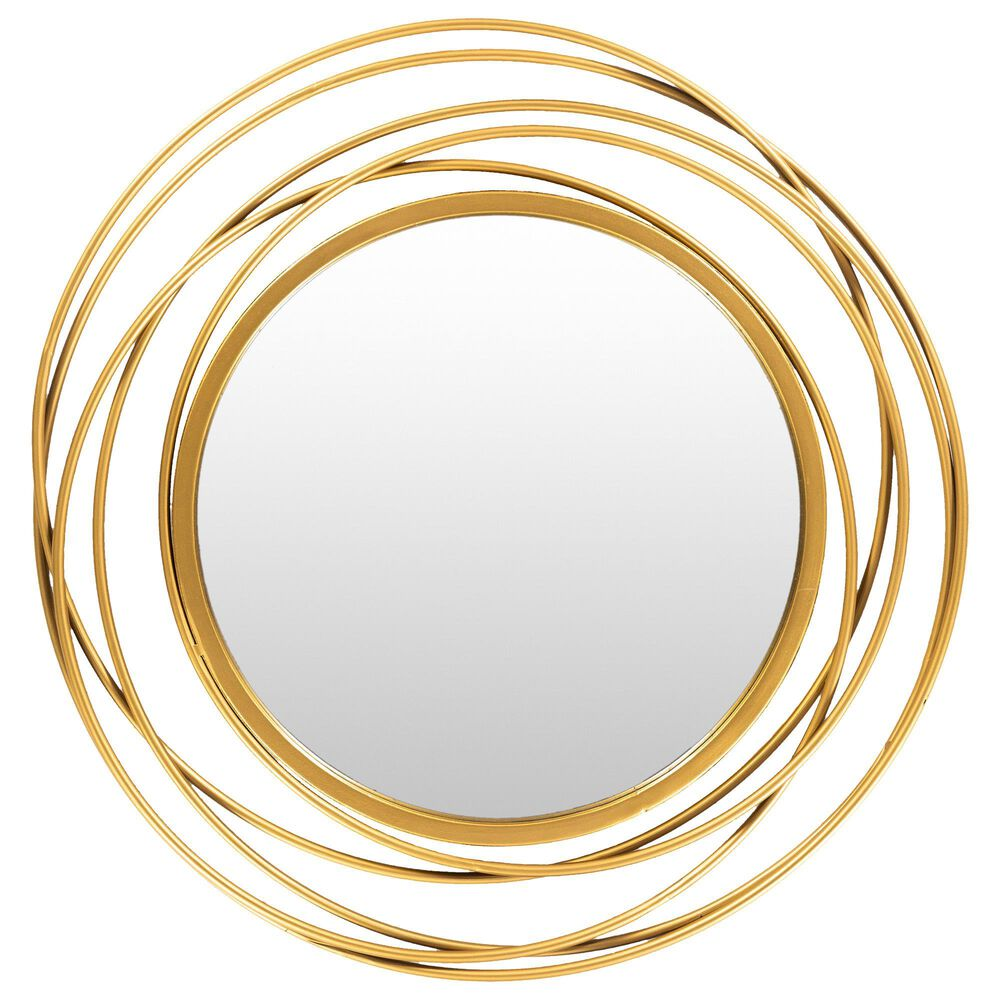 Surya Inc Dixie Wall Mirror in Gold, , large
