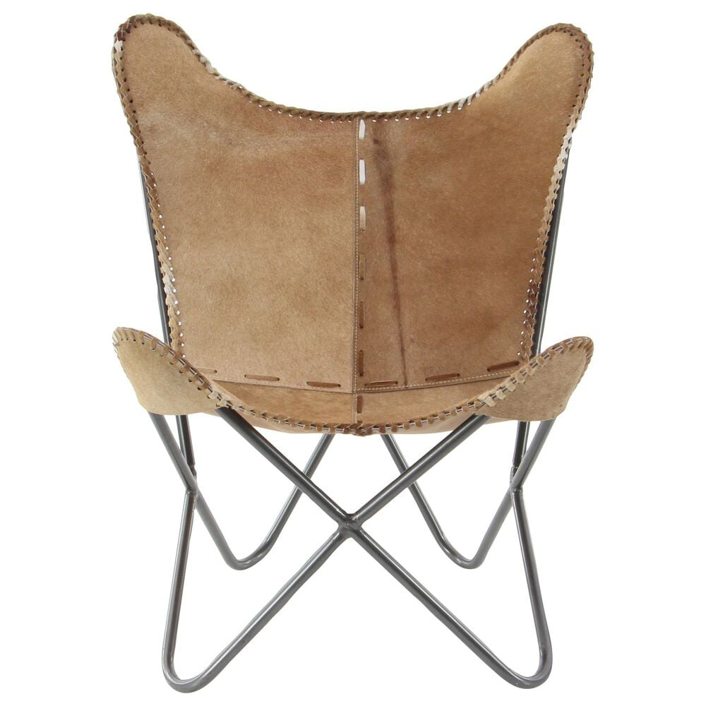 Maple and Jade Chair in Light Brown Cow Hide, , large