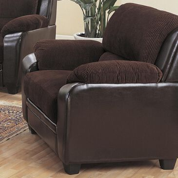 Pacific Landing Monika Stationary Chair in Chocolate, , large