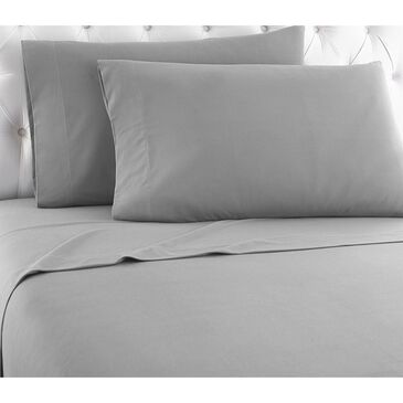 Shavel Home Products 3-Piece Twin Micro Flannel Sheet Set in Greystone, , large