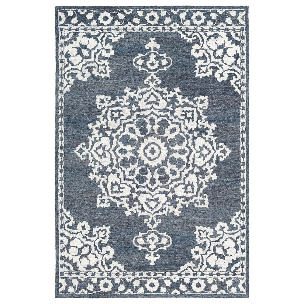 Surya Granada GND-2309 6' x 9' Charcoal and Cream Area Rug, , large