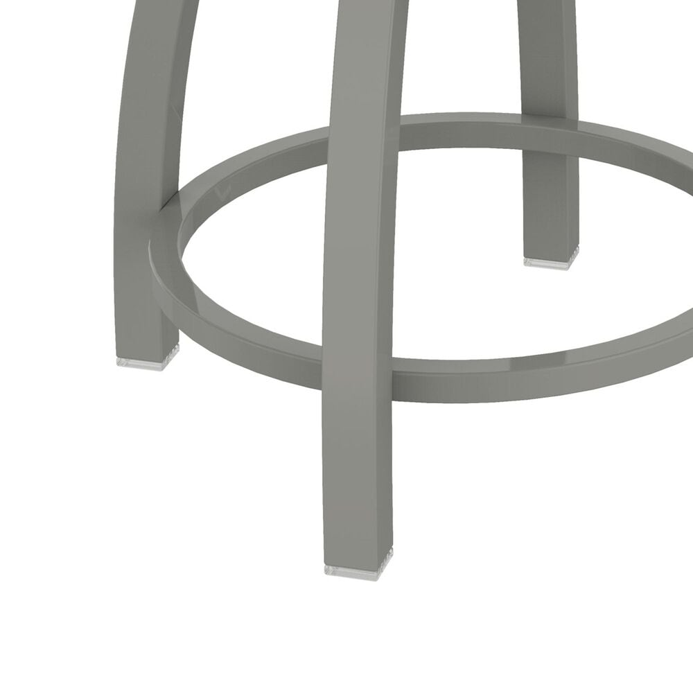 """Holland Bar Stool Misha 18"""" Swivel Vanity Stool with Anodized Nickel and Canter Pine Seat, , large"""