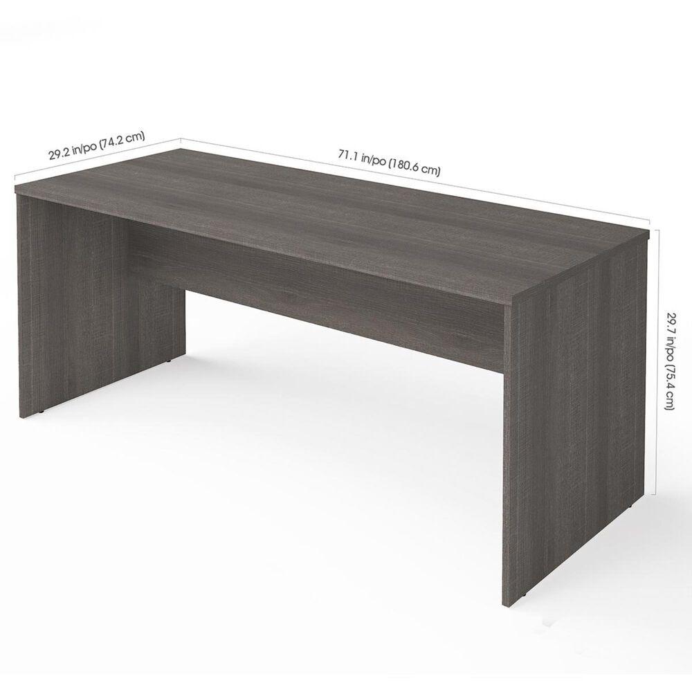 Bestar i3 Plus Executive Desk in Bark Gray, , large