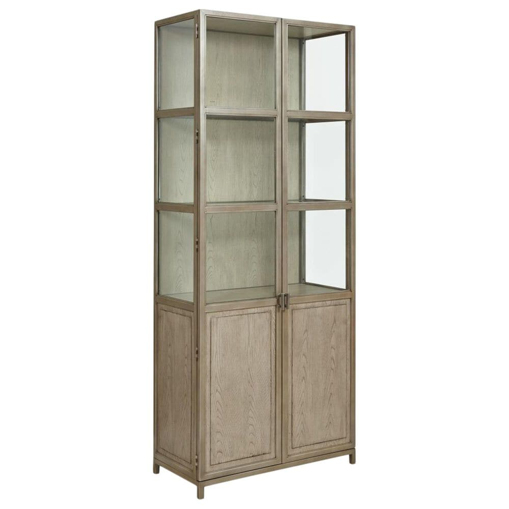 American Drew West Fork Blackwell Display Cabinet in Aged Taupe, , large