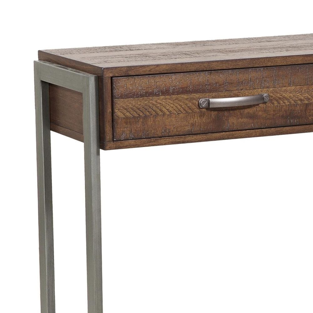 Accentric Approach Accentric Accents Storage Console Table in Rustic Brown, , large