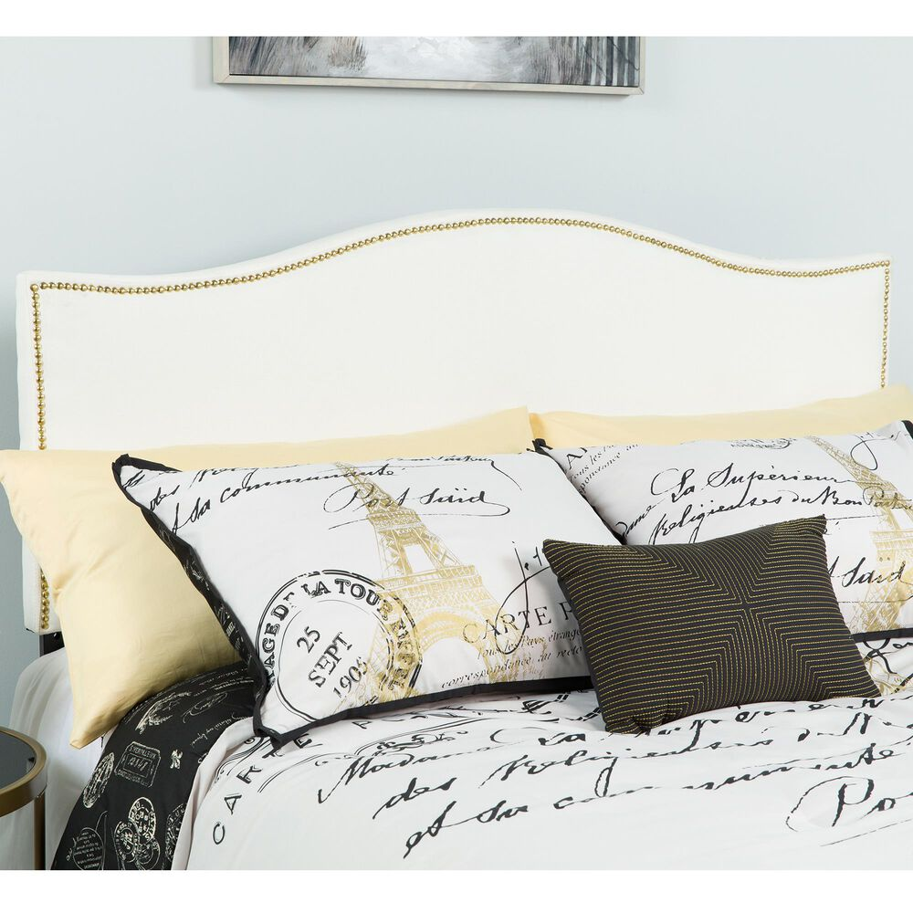 Flash Furniture Lexington Queen Headboard in White, , large