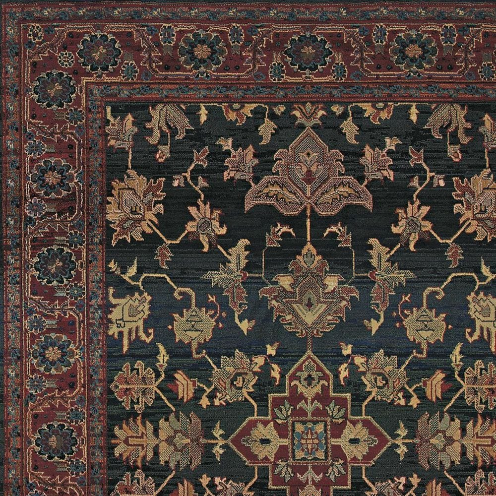 """Oriental Weavers Kharma 836F4 9'9"""" x 12'2"""" Blue and Red Area Rug, , large"""