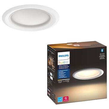 """Philips Hue 4"""" White Ambiance Recessed Downlight in White, , large"""