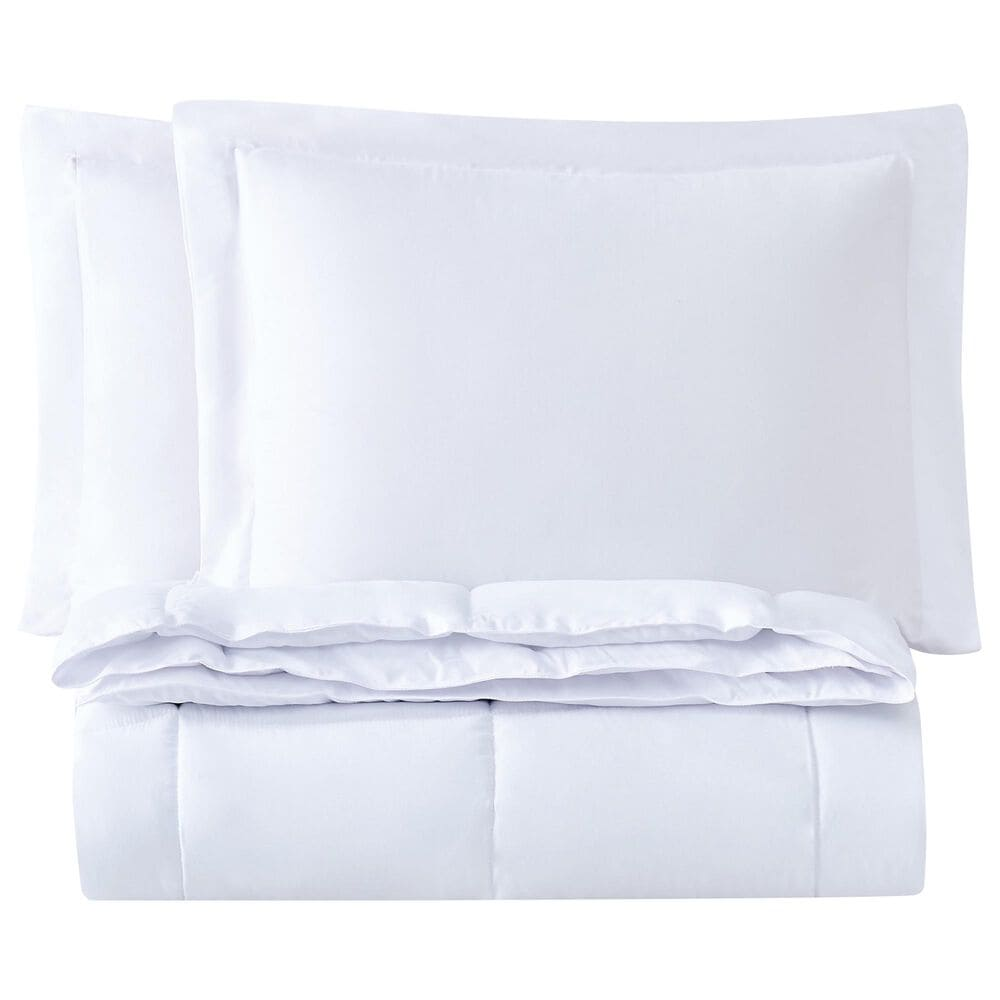Pem America Truly Soft 3-Piece Full/Queen Comforter Set in White, , large