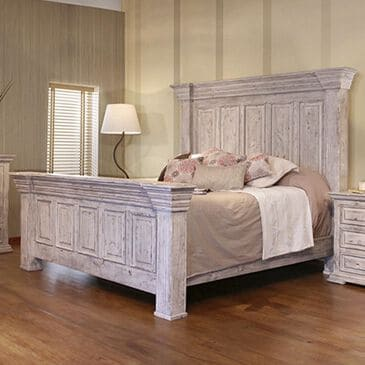 Fallridge Terra White Queen Bed in Vintage White, , large