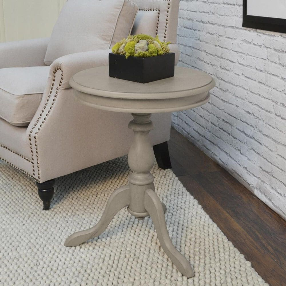 Carolina Cottage Nora Side Table in Weathered Gray, , large