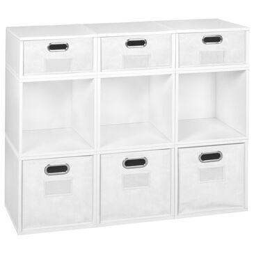 Regency Global Sourcing Niche Cubo 9-Piece Storage Set in White Wood Grain/White, , large