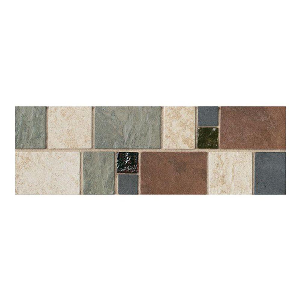 "Dal-Tile Continental Slate Multi Deco 4"" x 12"" Decorative Tile, , large"