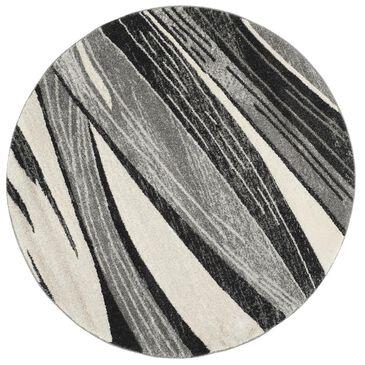 Safavieh Retro RET2691-7912 6' Round Light Grey and Ivory Area Rug, , large
