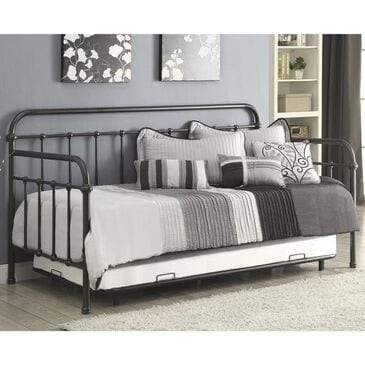 Living Essentials Twin Daybed with Trundle in Dark Bronze, , large