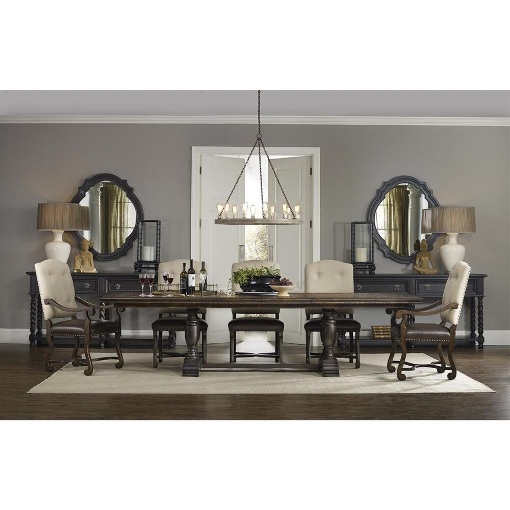 Hooker Furniture Treviso Trestle Dining Table in Dark Macchiato - Table Only, , large