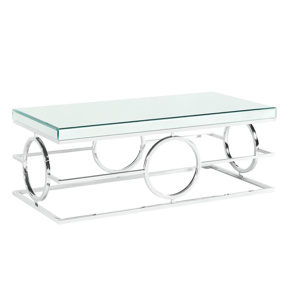Mayberry Hill Pearl Cocktail Table in Mirror and Chrome, , large