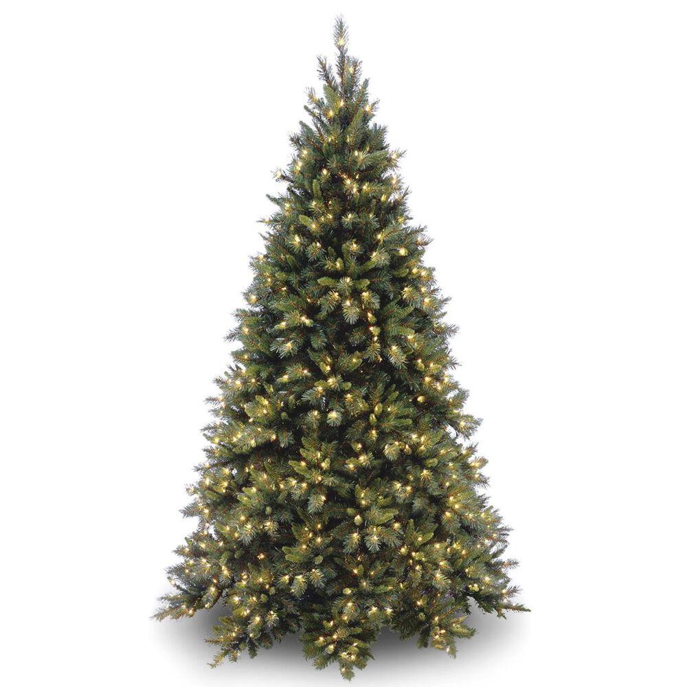 "National Tree 6.5"" Tiffany Medium Fir Hinged Tree with 600 White Lights, , large"