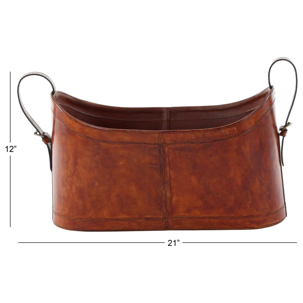 Maple and Jade Magazine Holder in Brown, , large