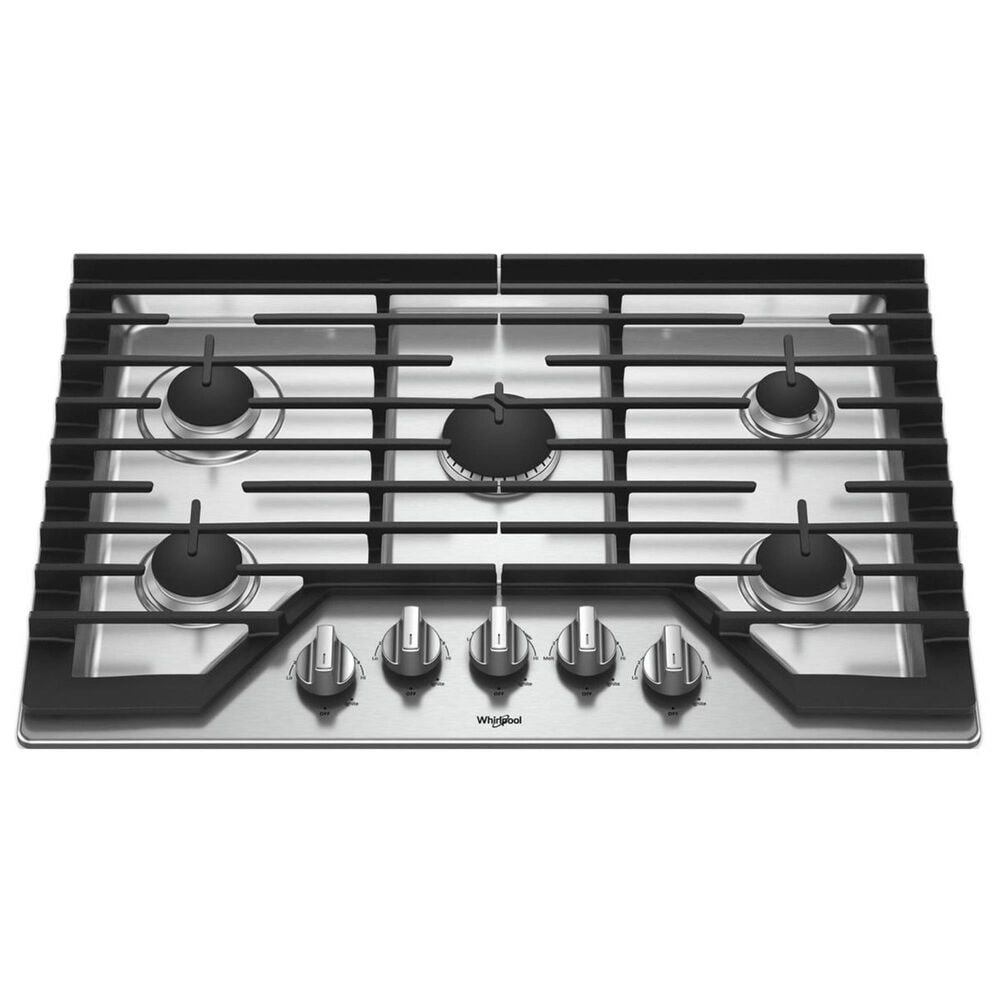 """Whirlpool 30"""" Gas Cooktop with Griddle in Stainless Steel, , large"""