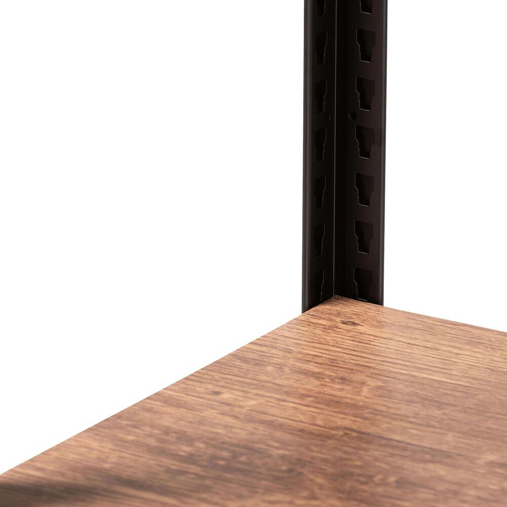 Baxton Studio Elton 3-Shelf Storage Organizer in Black and Brown, , large