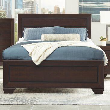 Pacific Landing Kauffman Queen Panel Bed in Dark Cocoa, , large