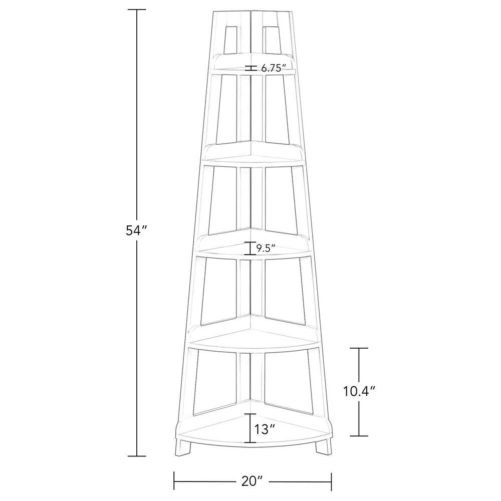 RiverRidge Home Amery 5-Tier Corner Ladder Shelf in Gray, , large